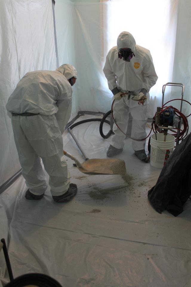 Environmental Group hard at work removing asbestos